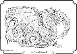 Detailed Dragon Coloring Pages For Adults Dragons Coloring Pages