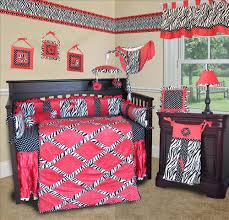 black and pink crib bedding hot baby white sets