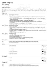 Supermarket Manager Resumes Store Manager Resume Sample Writing Guide 20 Examples