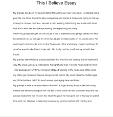 This I Believe Essay Life Long Writers Project Overview Website