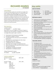 Resume Examples, Test Manager Cv Template Page Template Resume Page Two Page