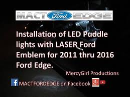 installation of led puddle lights with the laser ford logo on a 2011 Illuminated Grille Emblems at Illuminated Emblems Ford Wiring Diagram