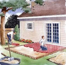 easy to build patio s plan 90054