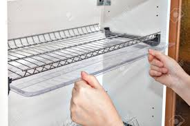 Installing Shelf Under Kitchen Cupboard With Inside Wire Plate