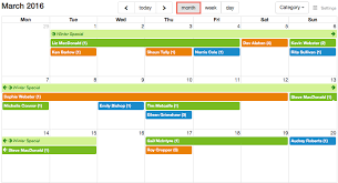 Calendars Month View Checkfront Support