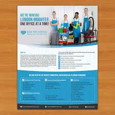 Commercial Cleaning Flyers Serious Professional Cleaning Service Flyer Design For A