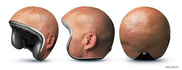 bald head helmet neatorama