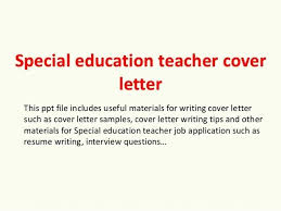 Special Education Cover Letter Examples Special Education Teacher