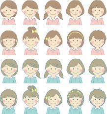 フリーイラスト 20種類の女の子のセットでアハ体験 Gahag 著作権