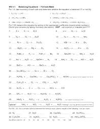 Chemical Reactions Worksheet Answers Decomposition Reaction 1 ...