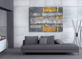 abstract grey yellow modern limited edition canvas art canvas print on grey and mustard yellow wall art with modern yellow and grey canvas wall art print entitled it s the way