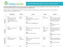 one week menu planner you and baby weekly meal planners babycenter