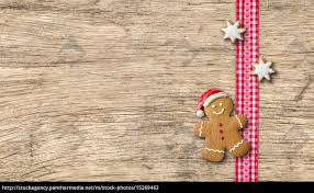 gingerbread man on wooden board with 15269463