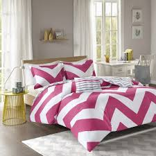 mi zone libra teen girls boys duvet cover set twin twin xl size pink chevron 3 piece bed covers bedding sets ultra soft microfiber duvet cover set