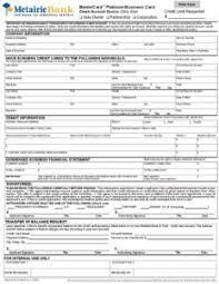 Mb Platinum Business Credit Card Application Printable