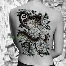 27566 руб водостойкая временная татуировка наклейка змеиная роза цветок тело