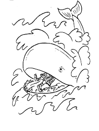 Small Picture Coloring Page Free Printable Jonah And The Whale Coloring Pages