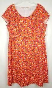 New 148 Boden Textured Cotton Red Woodblock Geo Grace Dress