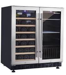 Thermocool Double Door Wine Fridge & Drinks Chiller in Stainless Steel  THC-WC66B - Image