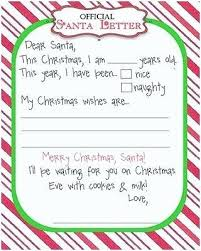 Free Printable Christmas Wish List Letter To Template Cute