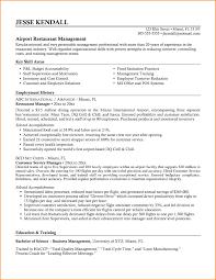 Restaurant Resume Template Restaurant Manager Resume Template