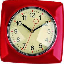 Red Kitchen Accessories Red Kitchen Wall Clocks Home Design Ideas