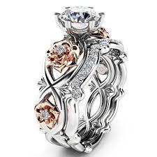 Cheap best Sweet <b>Zircon Inlaid</b> Rose Gold Flower Heart <b>Hollow</b> ...