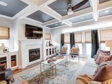 coffered ceilings and blended patterns are the stars of this textured contemporary living room 8 photos contemporary living rooms e23 contemporary