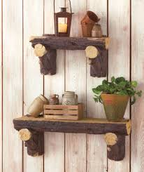 Lodge Log Shelves