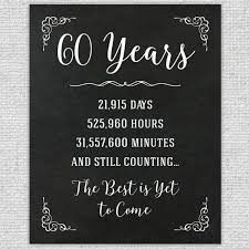 60th anniversary gift 60th year wedding anniversary 60th anniversary sign anniversary chalkboard anniversary numbers stats in 2019 chalkboards