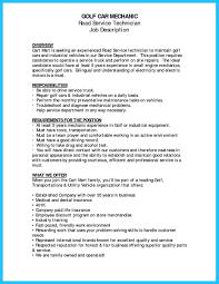 Auto Technician Job Description 8 Automobile Mechanic Resume