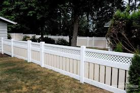 white fence ideas. Pleasant Vinyl Fence Ideas Great Lattice Top Fencing White I