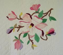 Magnolia Applique Vintage Quilt --Sold | Cindy Rennels Antique Quilts & magnolia bloom Adamdwight.com