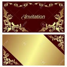 Golden Invitation Card Design Invitation Card Design With Golden Borders