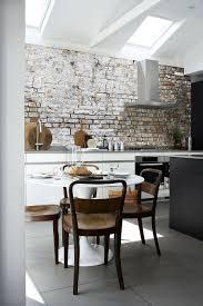 Brick wall kitchen ...
