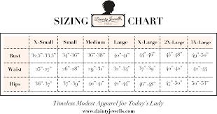 Lovelywholesale Size Chart Size Chart Dainty Jewells Size Chart Chart Modest Outfits