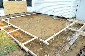 how to make a concrete patio making forms aspiration build with28