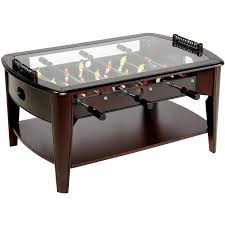 ... Coffee Table, Captivating Brown Rectangle Unusual Wood Foosball Coffee  Table With Glass Top And Storage ...