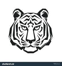 Stripe Templates Tiger Template Printable Stripe Head Vector Logo Concept Silhouette