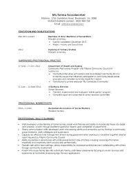 Sample Social Worker Resume Social Work Resume Sample Social Work
