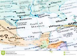 Golfo Del Messico Su Una Mappa Immagine Stock - Immagine di scopra, corsa:  104679865