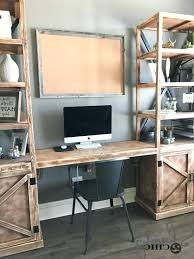 home office desk with storage. Diy Desk With Storage Floating For Office Towers Shanty 2 Chic Regarding Incredible Home . G