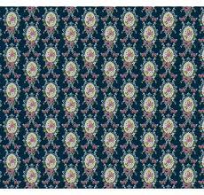 Blauw Met Bloemen Behangdolls House Emporium 4502