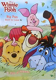 Disney Winnie The Pooh A Pile Of Friends Coloring