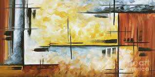 abstract painting abstract painting chocolate brown golden yellow and gray art colors of the horizon