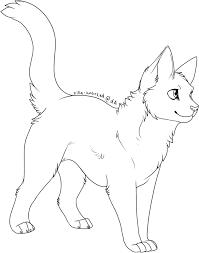 warrior cat drawing outline. Exellent Cat Free Cat Lines By ZillastarAdoptablesdeviantartcom On DeviantArt On Warrior Drawing Outline T