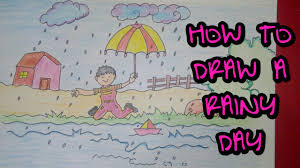 drawing tutorial drawing of rainy day rainy season easy drawing tutorial drawing of rainy day rainy season easy drawing creative ideas