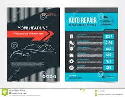 Auto Repair Flyer Set Of Auto Repair Cars Trucks Service Layout Templates
