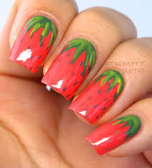 Strawberry Manicure: Strawberry Nail Art Design | The Happy Sloths ...