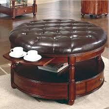 round leather ottoman full round leather ottoman coffee table tables within small leather ottoman coffee table